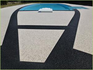 Magnifique dessin axée sur la piscine
