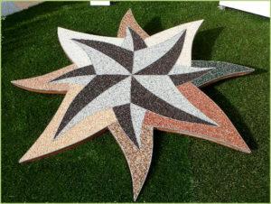 dessin-artistique-dans-une-pelouse-en moquette-de-pierre
