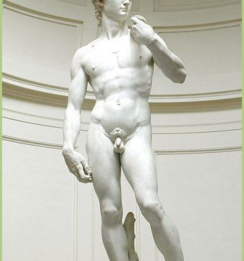 DAVID de Michel-Ange à Florence.