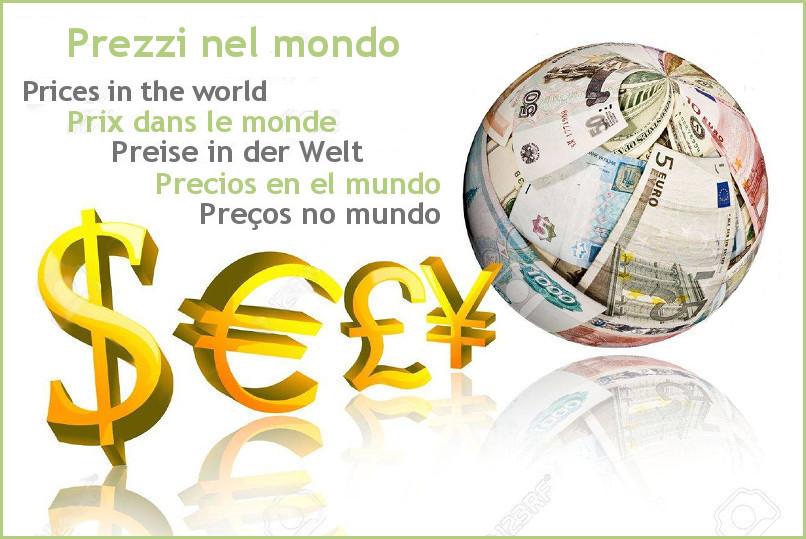 Les prix dans le monde