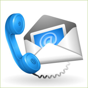 Contacts par e-mail sur le site