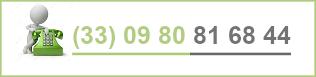 Numero de telephone (33) 09-80-81-68-44
