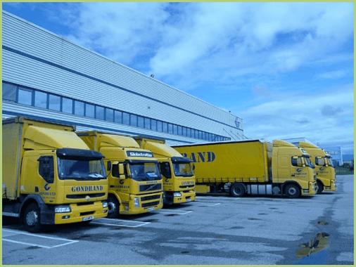 Flotte de camions Gondrand