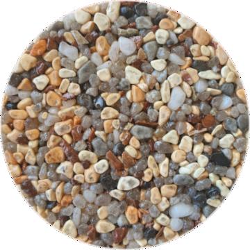 Les couleurs du granulat de marbre - Arabescato rosso
