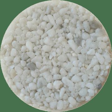 Les couleurs du granulat de marbre - Bianco carrara