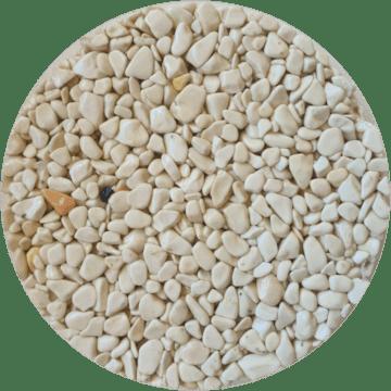 Les couleurs du granulat de marbre - Bianco verona