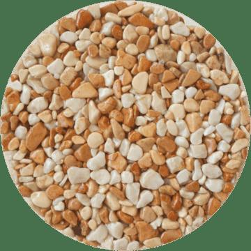 Les couleurs du granulat de marbre - Brescia pernice