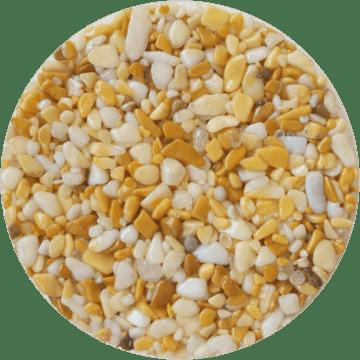 Les couleurs du granulat de marbre - Giallo siena