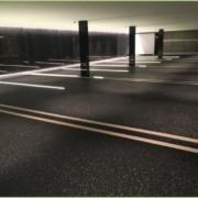 Parking souterrain en granulat de marbre - Après